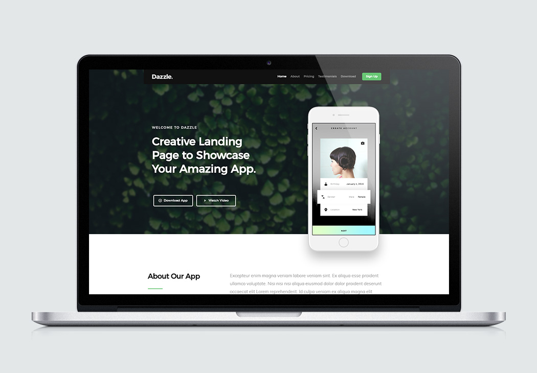 free website template dazzle
