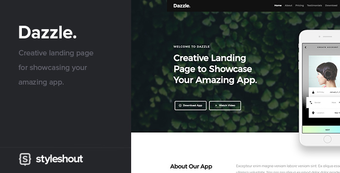 Free website template -Dazzle