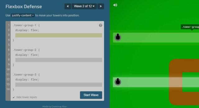 CSS learning games - Flexbox Defense webapp