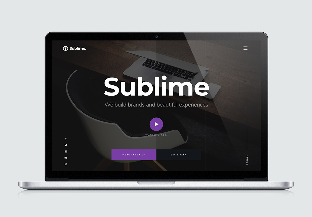 Free Website Template   Sublime