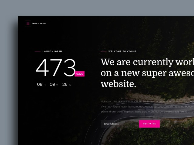 Free Website Template - Count 01