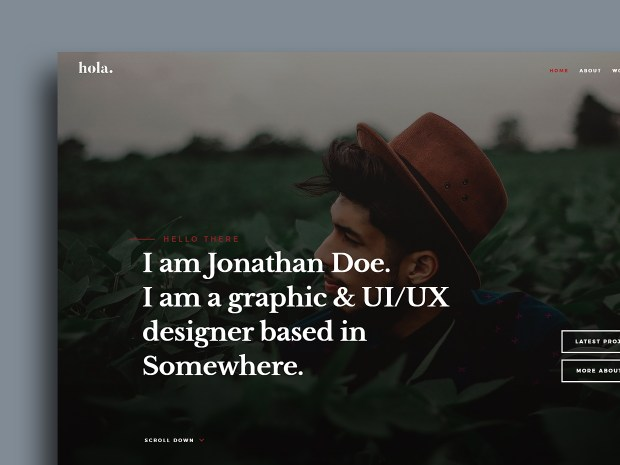 Free Website Template - Hola 01
