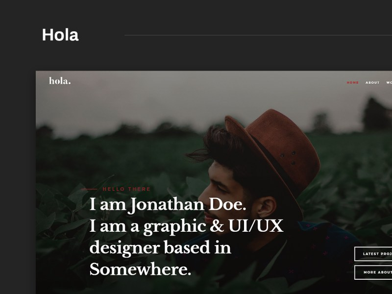 Free Website Template - Hola