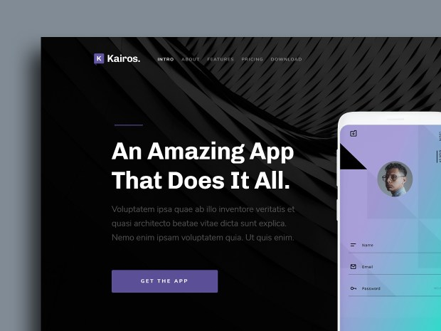 Free Website Template - Kairos 01