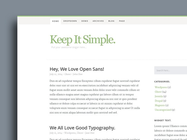 Keep It Simple | High-Quality Free Website Template by Styleshout