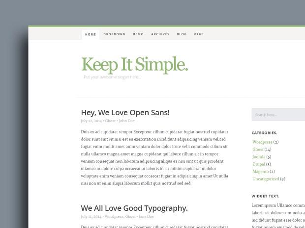 Free Website Template - Keep It Simple