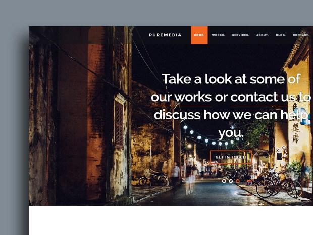 Free Website Template - Puremedia 01