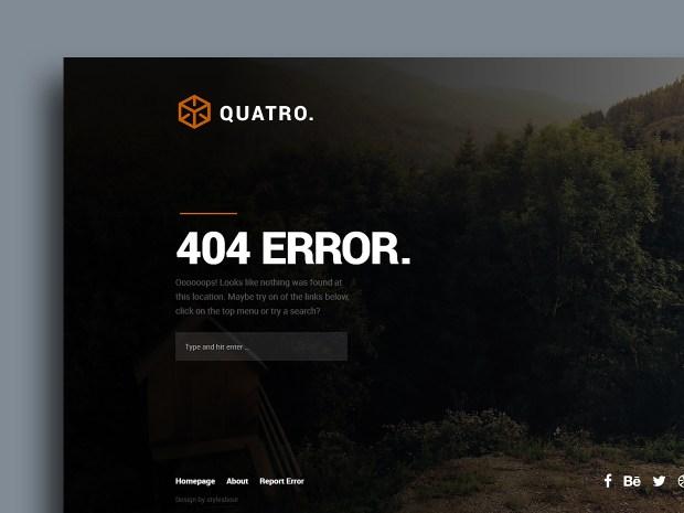 Free Website Template - Quatro 01