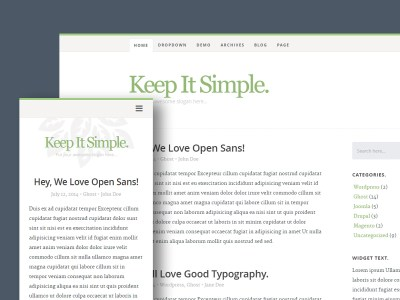 Free Website Template - Keep It Simple