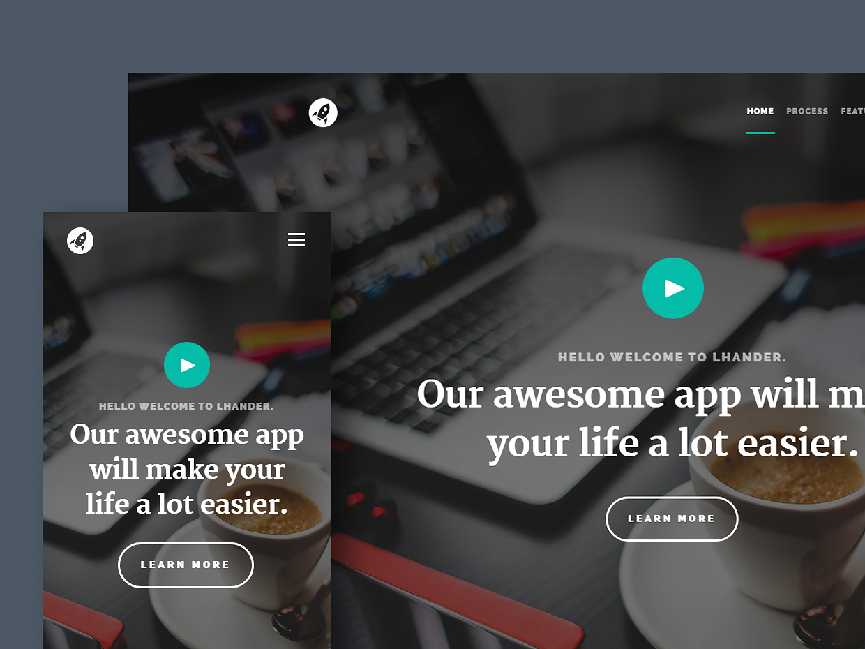 Free Website Template - Lhander