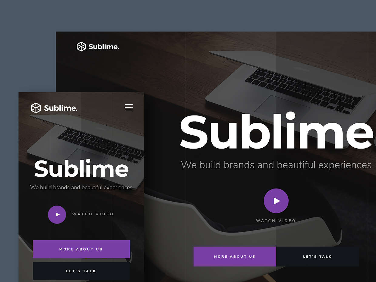 Sublime - Free Creative Agency Website Template | Styleshout