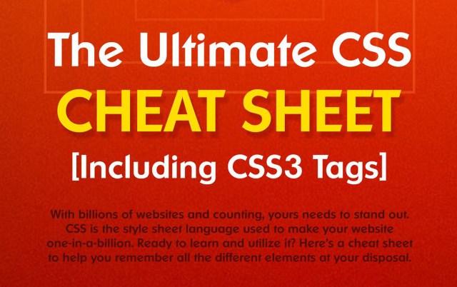 Comprehensive CSS3 Cheat Sheet + PDF