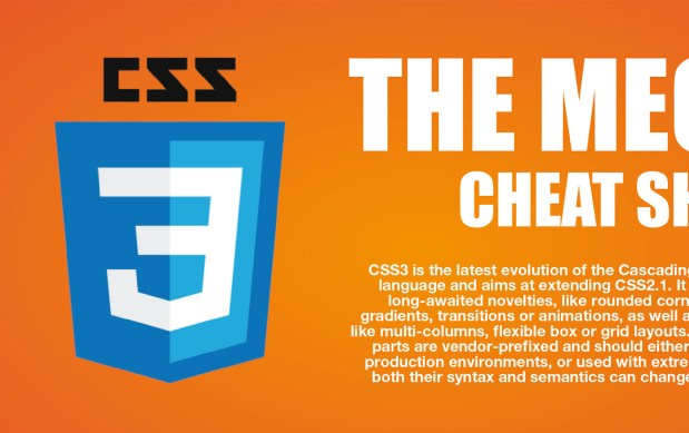 The Mega CSS3 Cheat Sheet Infographic