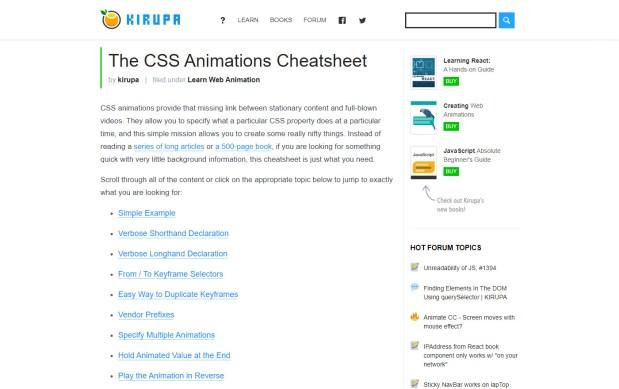 The CSS Animations Cheatsheet