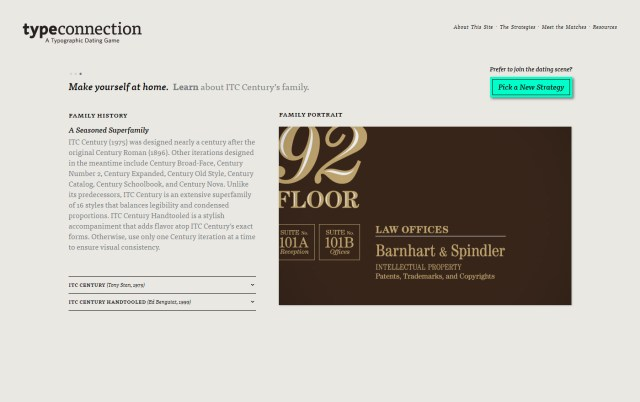 Type Connection - Excellent Font Pairing Tools for Designers