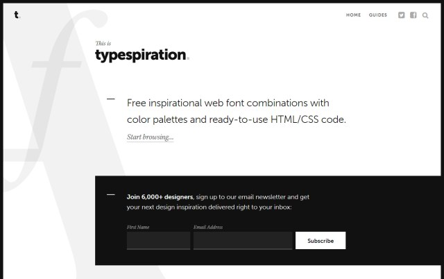 Typespiration - Excellent Font Pairing Tools for Designers
