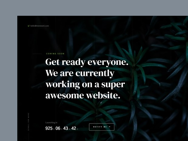Free Website Template - Imminent 01
