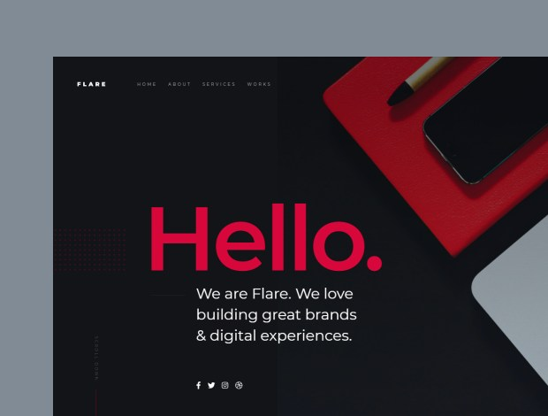 Free website template - Flare 01