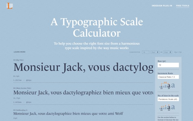 Typographic Scale Calculator - Online Type Scale Calculators Every Designer Should Know