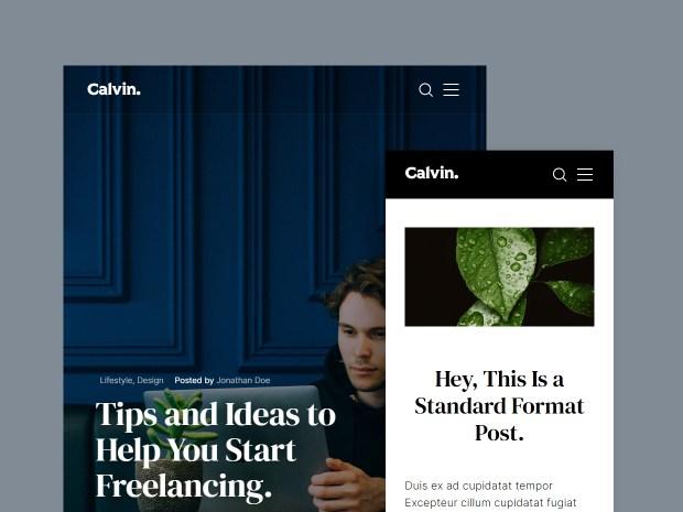 Calvin - Free HTML Blog Template 02
