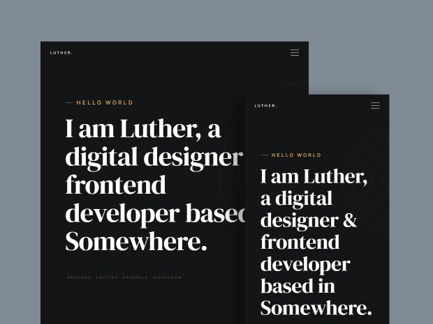 Luther - Free Resume Website Template 02