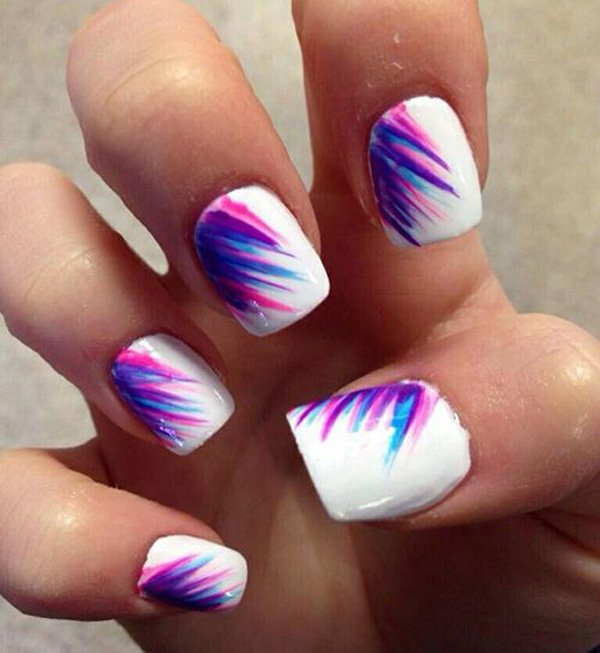 Hit The Waves With This Adorable Looking And Beach Inspired Nail Art Design