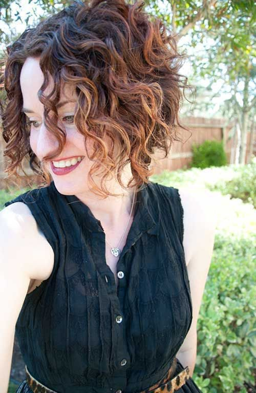 Get An Inverted Bob Haircut For Curly Hair