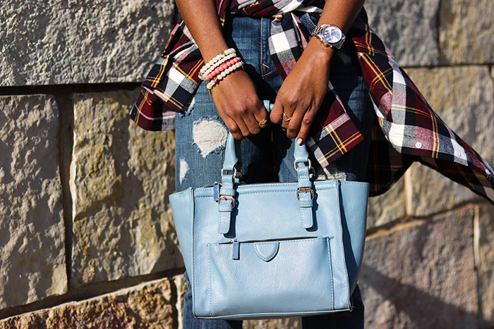 baby blue cross bag