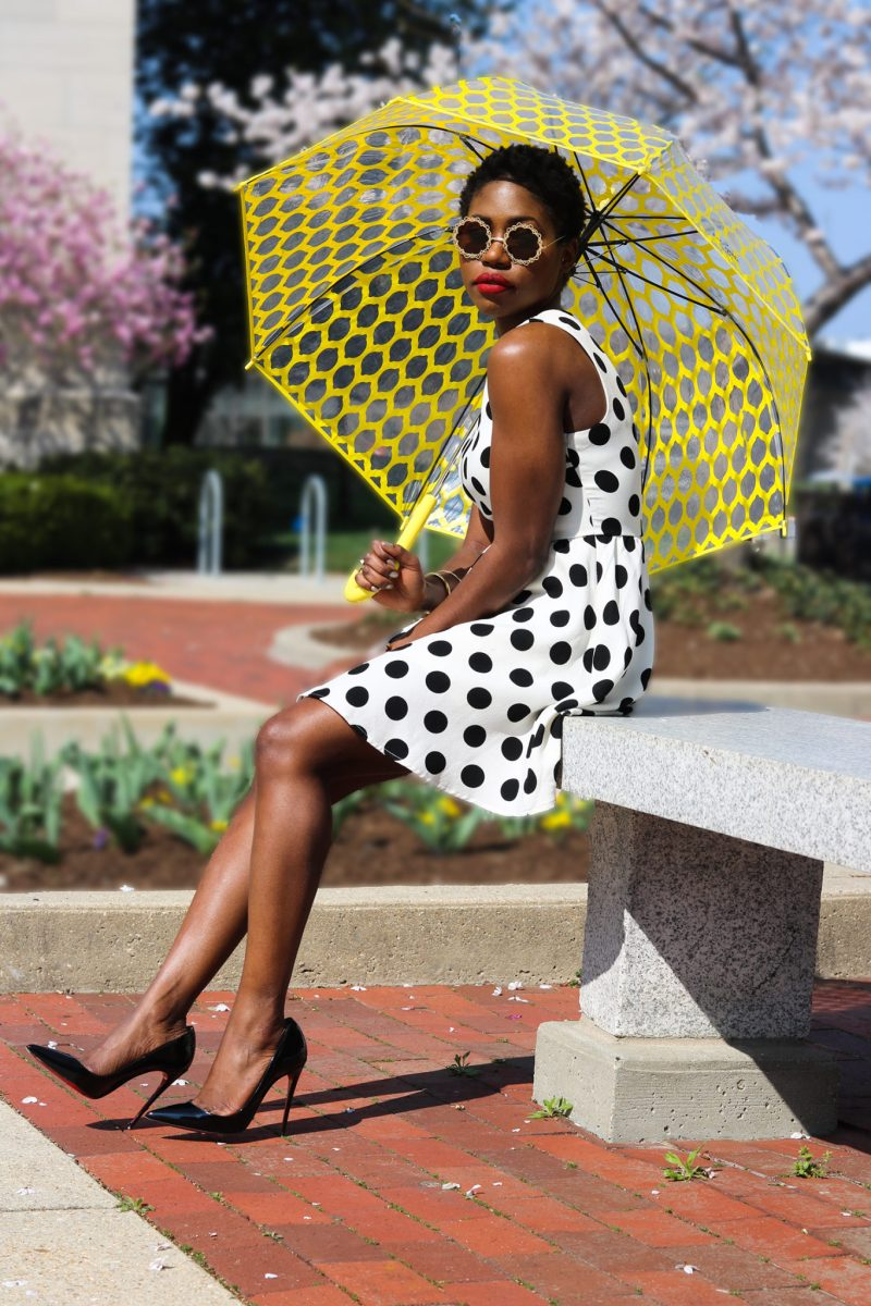 SPRING POLKA DOT SWING DRESS