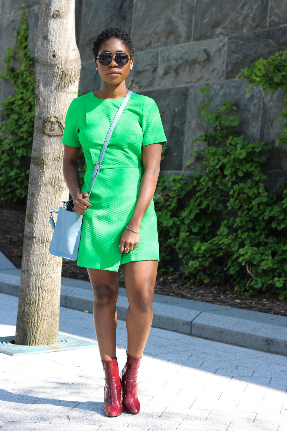 style synopsis_ green structured dress