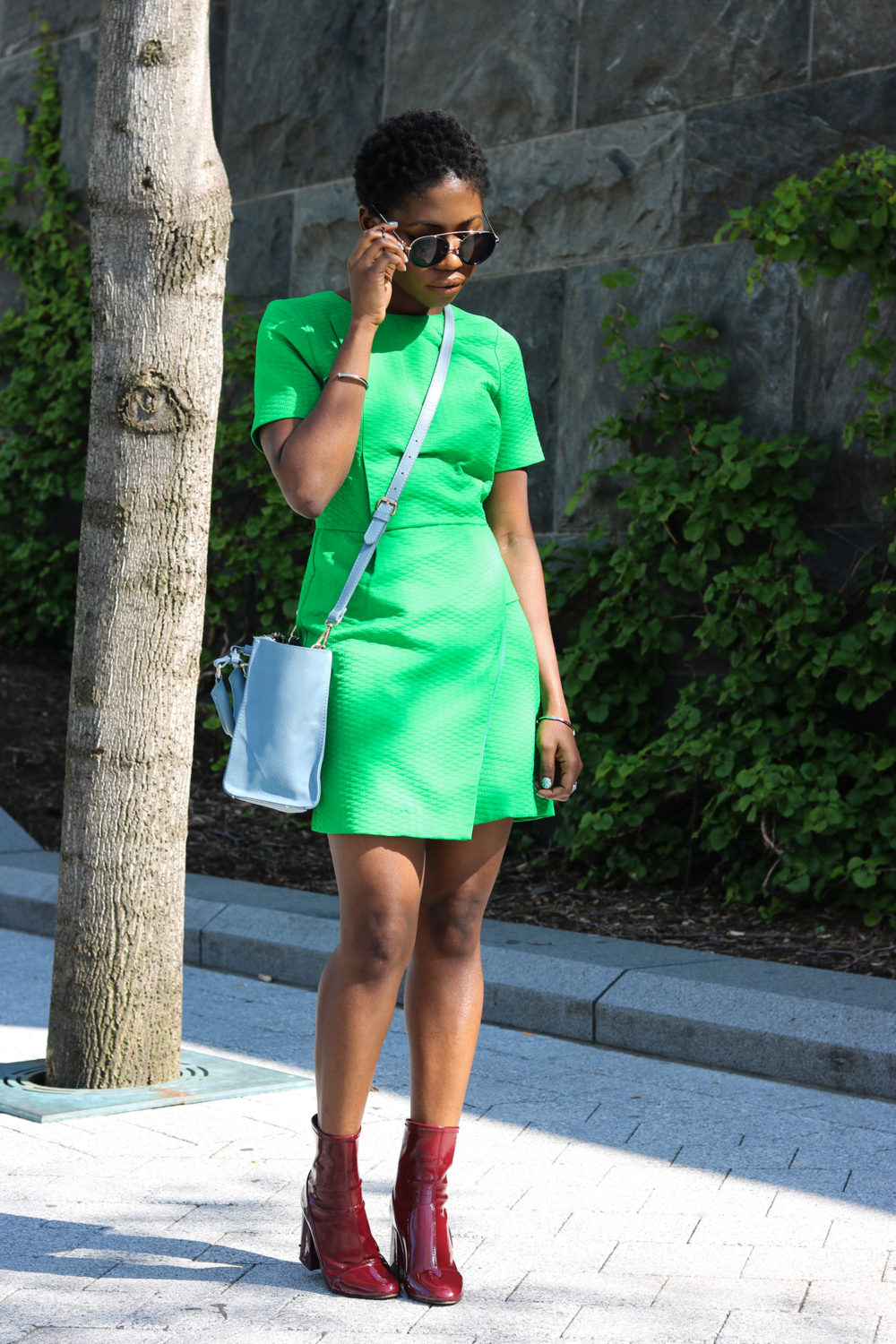 style synopsis_ vibrant green dress