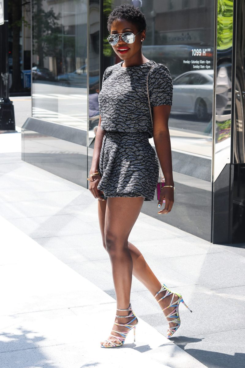 FUTURISTIC METALLIC: SKORT TWO PIECE