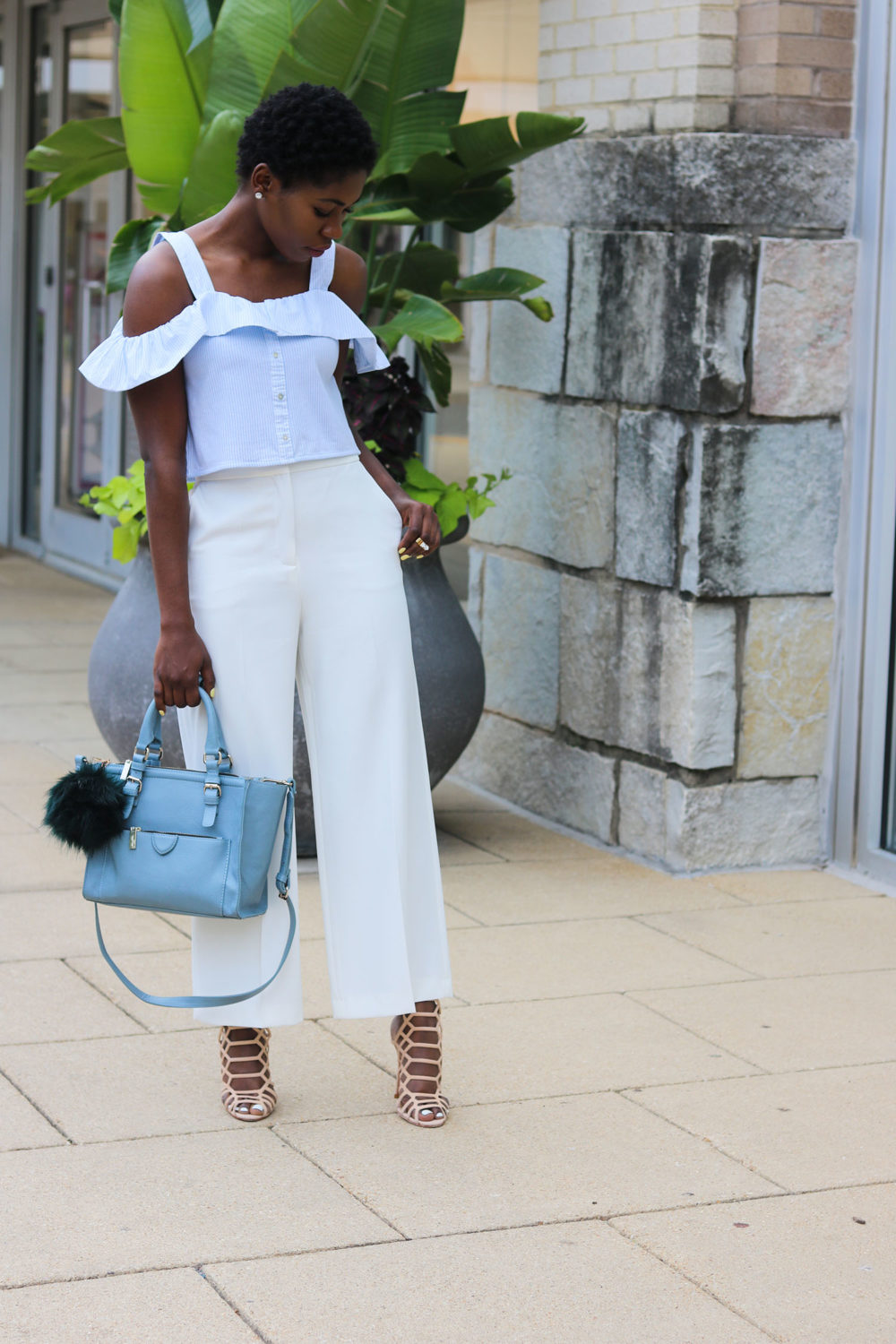 style synopsis off shoulder top & culottes