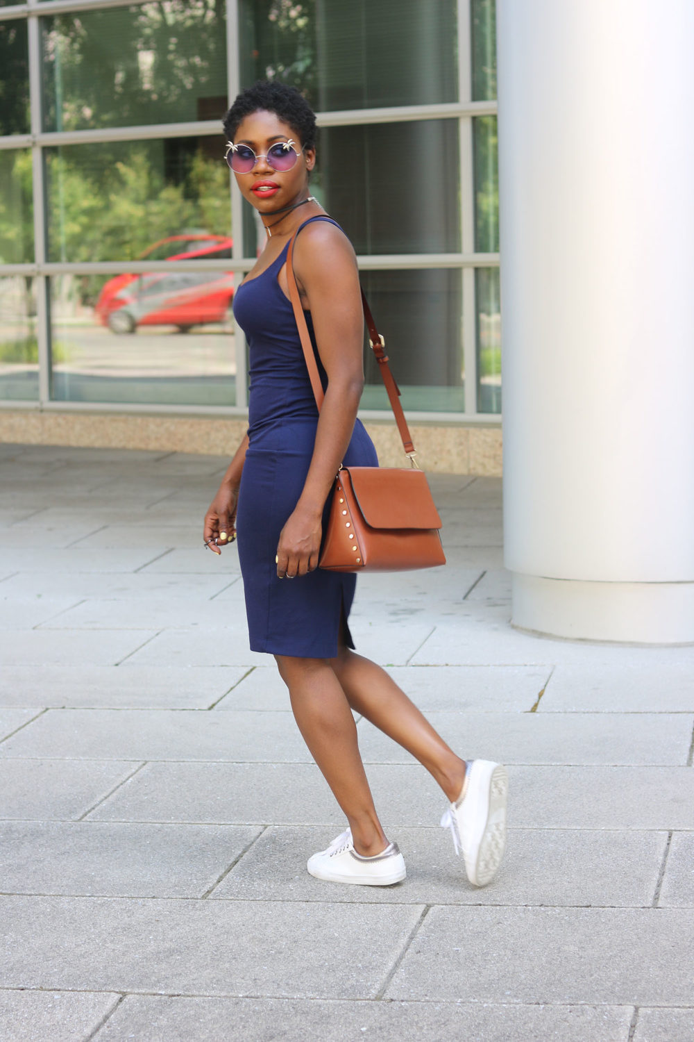style synopsis navy blue dress