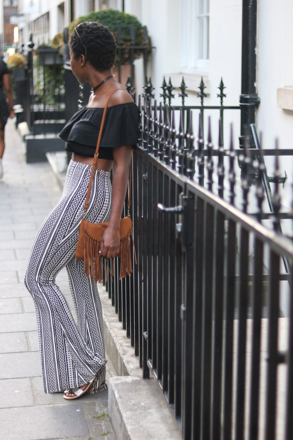 style synopsis off shoulder ruffle crop top