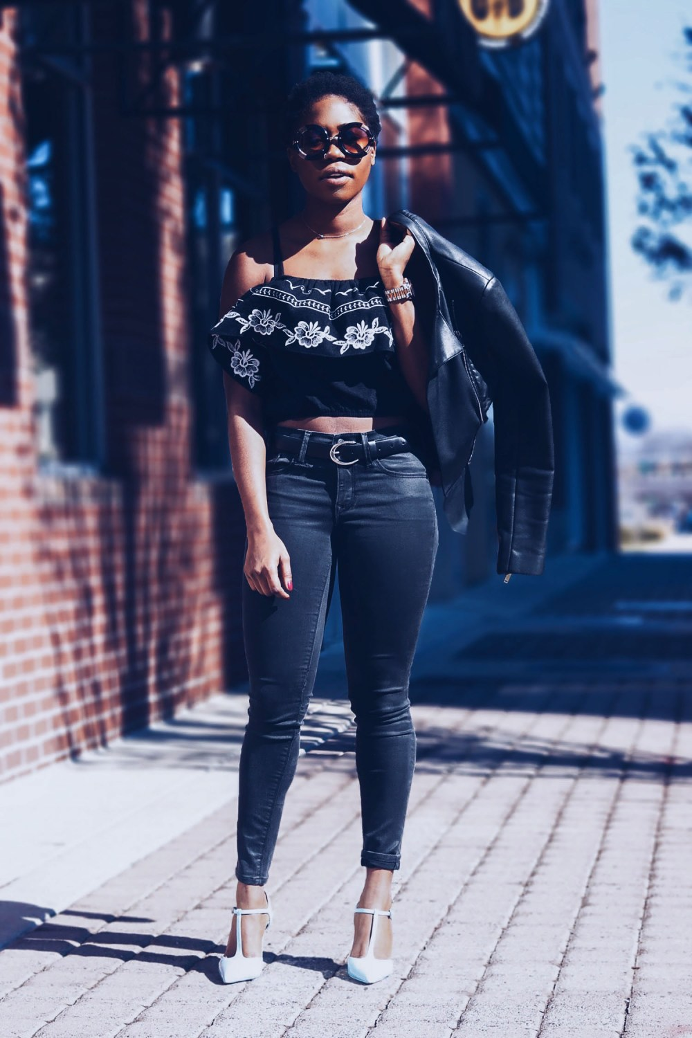 style-synopsis-embriodered-top-leather-jeans