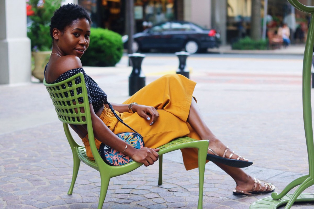 MUSTARD CULOTTES & SUMMER MUST HAVE OFF SHOULDER TOP