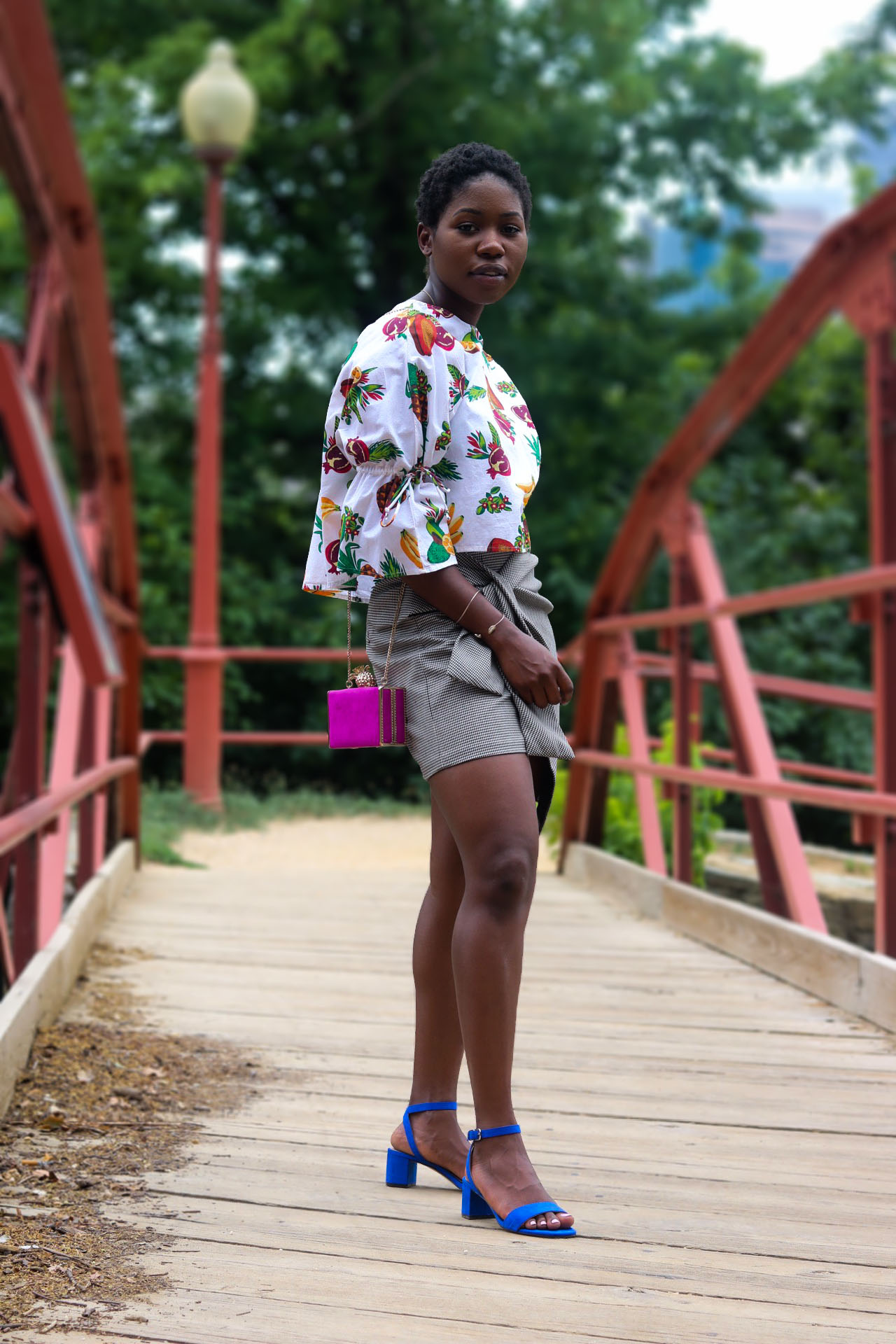 style-synopsis-poplin-print-top-bow-skirt-heeled-sandals