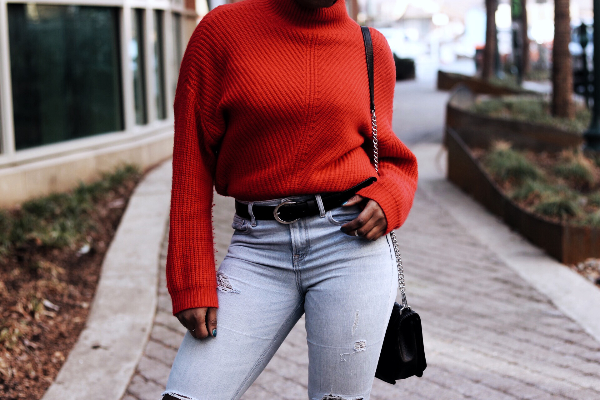 ALT= ox red sweater