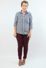 burgundy skinnies and gingham 3