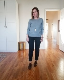 fall outfit 12_11 brass sweater and everlane denim
