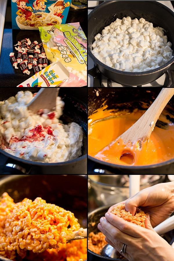 Pumpkin rice krispie treats Halloween