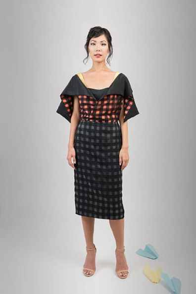 Option 2: The skirt turns into an elegant dress