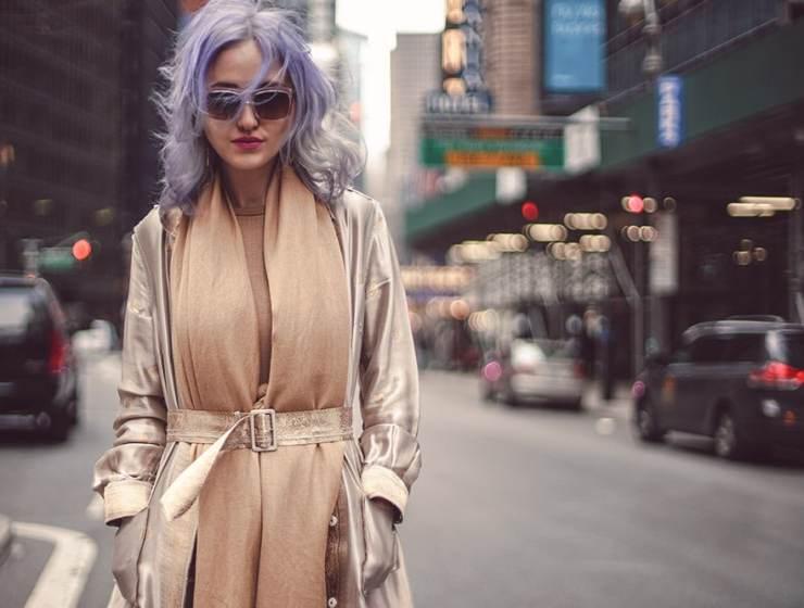 Street Style Inspiration NYC camel tones Prada coat