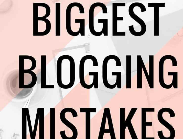 These are my 7 Biggest Blogging Mistakes. As much as I love blogging tips, I learn the most from failure and trying things out. I learned that promotion should be my biggest focus for my blog, and that SEO is something I should've learned early on.