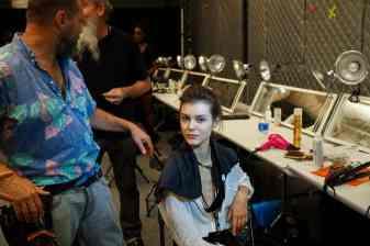 Backstage at Fashion Week with MAC Cosmetics and Tadashi Shoji