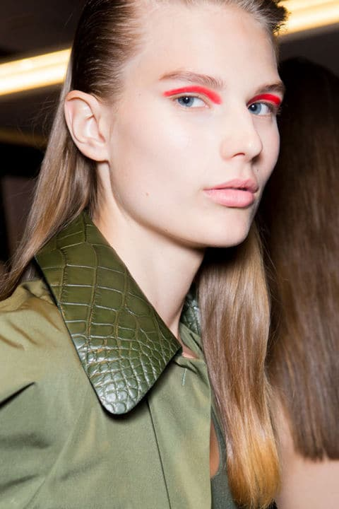 Salvatore Ferragamo Spring 2017 creative makeup beauty trends