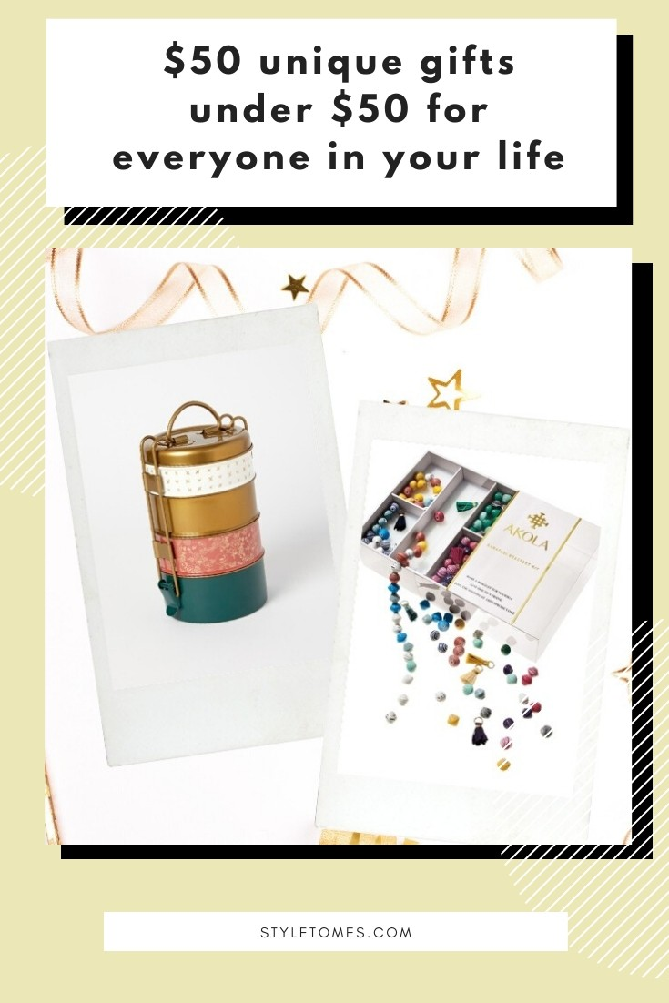 Whether you've known your friend for 1 year or 10, a unique gift she'll want and love will last you a lifetime of thoughts. And while we don't always have the budget for a luxury find, a well-thought-out unique gift is priceless. These 50 unique gifts are all under $50 and will ensure she loves each and every one you get her. #giftguide #uniquegifts