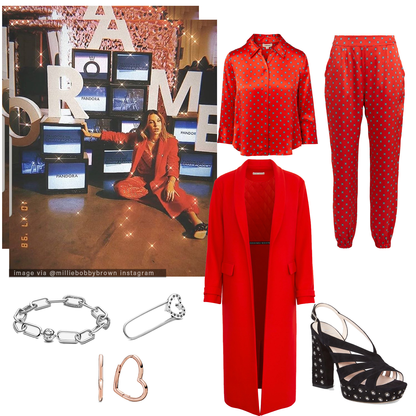 Get Millie Bobby Brown outfit for Pandora ad campaign