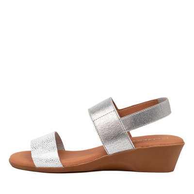 Beltrami Mariana Be White Silver Sandals